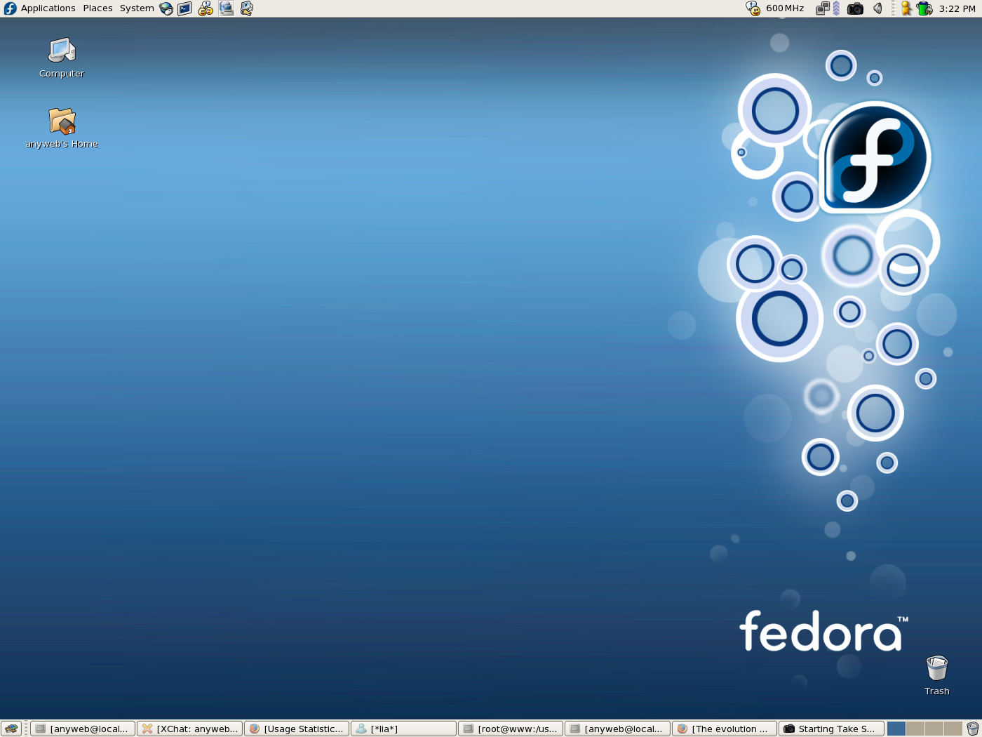 The evolution of Fedora Core Linux